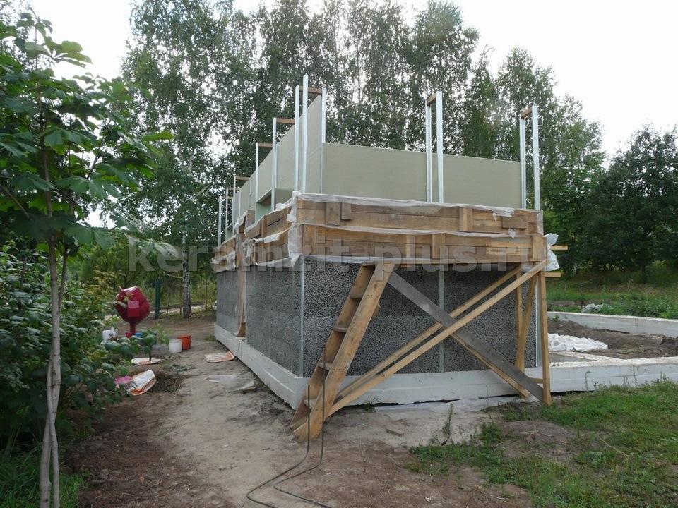 Строительство монолитных домов из керамзитобетона крошиться бетон